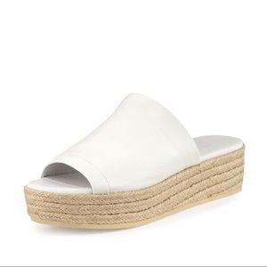 Vince. White wedge espadrilles sandals Size 10
